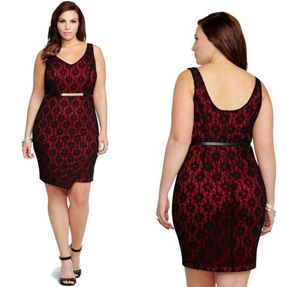 29% off torrid dresses & skirts - torrid lace tulip dress plus