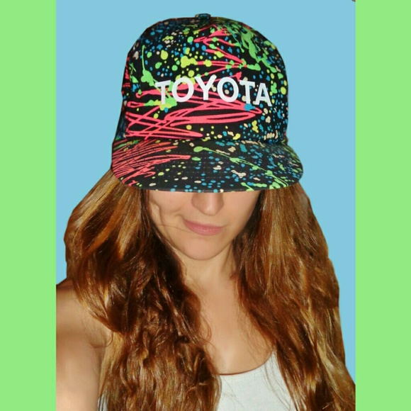 bcea5eea0b2 So Awesome Vintage 80s Neon Toyota Hat! 1980s Rave.  M 558cec63519f3a70b900191f