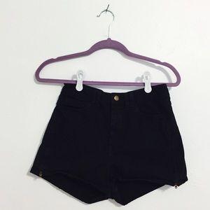 American Apparel High-Waist Side Zipper Short