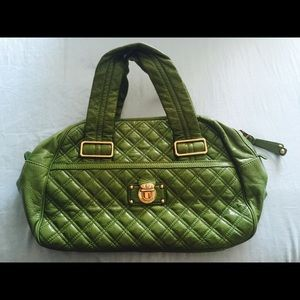 Green patent leather Marc Jacobs