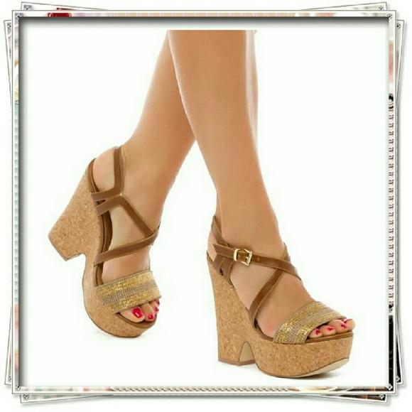 d59cc02968f Arete cork wedge sandal in brown.