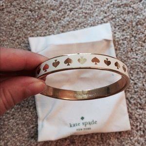 kate spade Jewelry - Authentic Kate Spade Idiom Bangle - White
