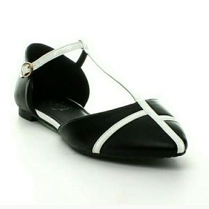 Ankle Strap Colorblock Flats