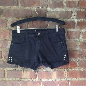 Black zara Jean shorts