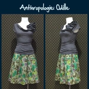 """Anthro """"Winter's Green Skirt"""" by Odille"""