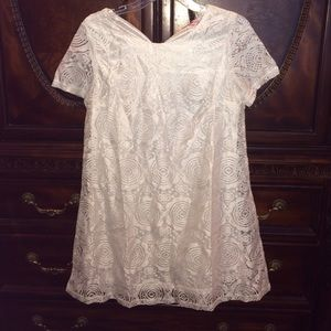White/Ivory lace shift dress
