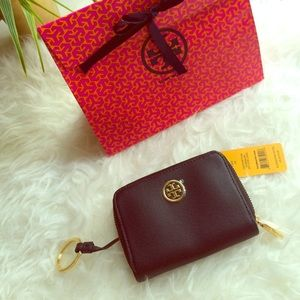 New Tory Burch Robinson Zip Coin Case