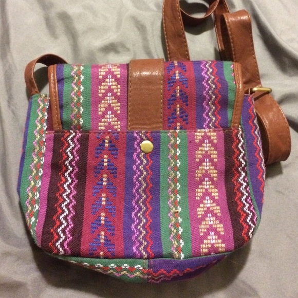 65% off Forever 21 Handbags - Super cute tribal print side bag ...
