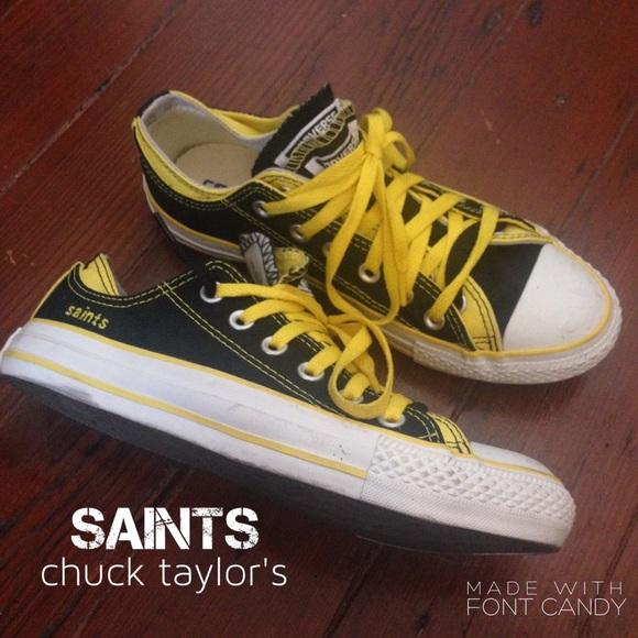 Converse Shoes Custom Saints Chuck Taylors Poshmark