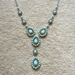 All the Rage blue statement necklace