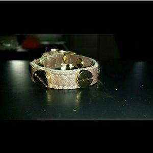 CC Skye Jewelry - CC Skye brown leather screw head bracelet