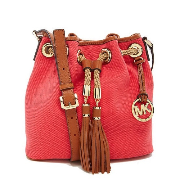 095d41f4ca0b Michael Kors Marina Medium Messenger in Watermelon.  M_558db4fcf5270833e4002954