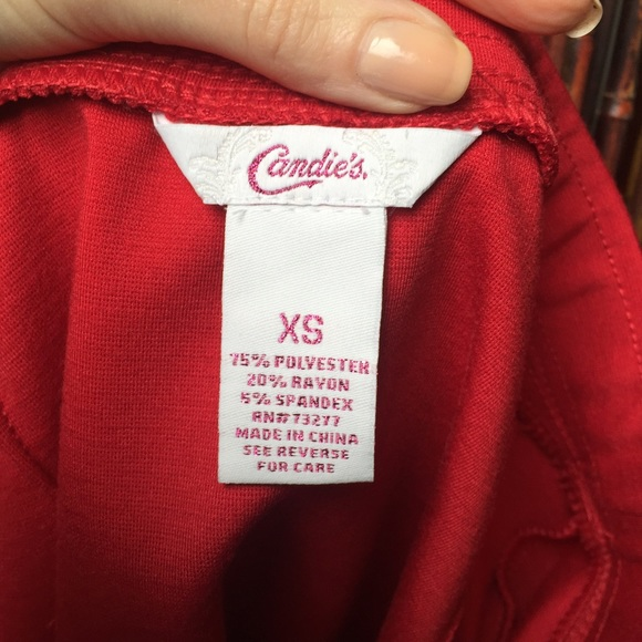 Candie's Skirts - Adorable red peplum skirt