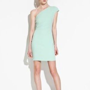 Zara Mint Green One Shoulder Dress Size Small