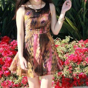 Dresses & Skirts - Mosaic Peacock Flowy Spring Dress