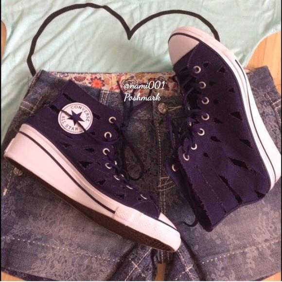 Converse Shoes - Converse All Star High Top Mermaid Wedge Sneakers e12d917da