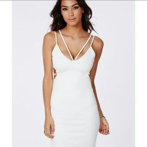 White cutout bodycon dress