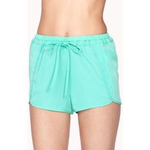 Mint Drawstring Shorts