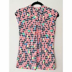 Worthington Tops - Geometric patterned top