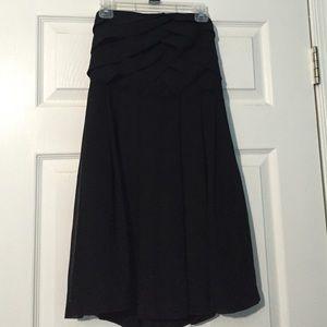 Black express strapless dress