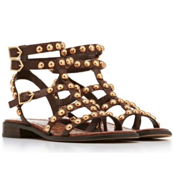 a3733c358f272 Sam Edelman EAVAN Gold Studded Gladiator Sandals. M 558df71eec54643bd2003d01