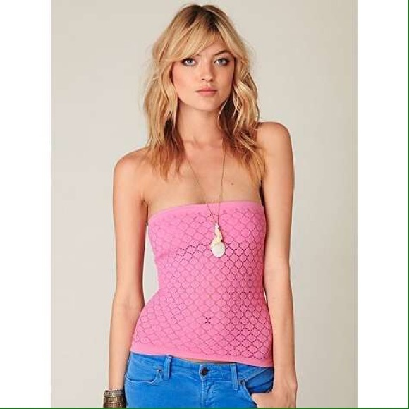 d0d2c77d00 Free People Tops - Free People Honey Textured Tube Top in Light Pink