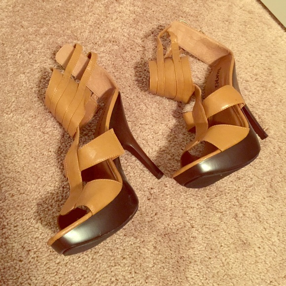 40 shoes camel high heel from s closet on