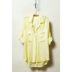 {anthropologie} nava henley in yellow