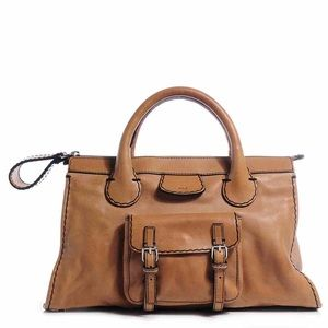 68% off Chloe Handbags - Chloe Edith Brown Leather Handbag from ...