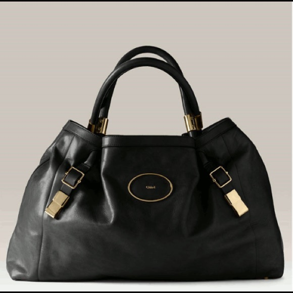 "Chloe Handbags - Authentic CHLOE ""Victoria"" Tote, Black leather"