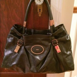 "Chloe Bags - Authentic CHLOE ""Victoria"" Tote, Black leather"