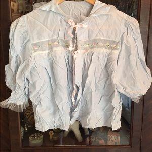 Vintage lingerie bed jacket