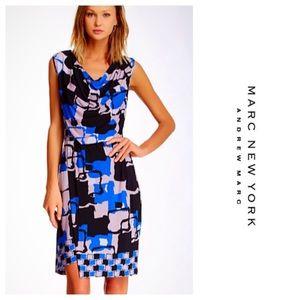 Marc New York Drape Neck Jersey Dress NWT
