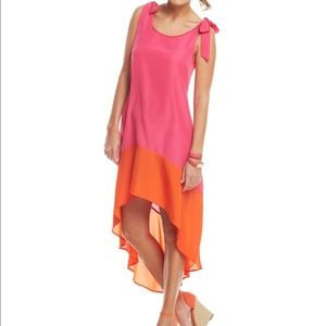 mudpie pink and orange dress