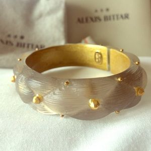 Alexis Bittar Lucite gold stud bangle.  NIB