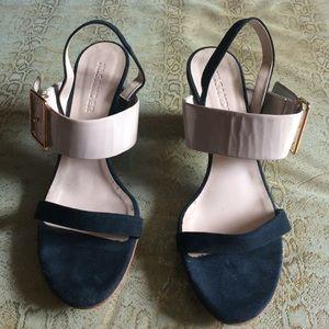 JIL SANDER tri-color sandals.