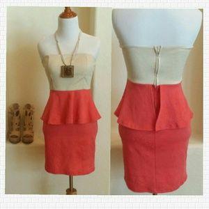 Dresses & Skirts - 🎉Host Pick 10/10🎉Color Block peplum dress