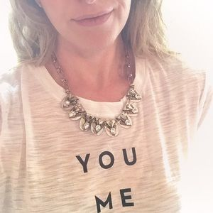 Metal statement necklace (Jewelmint)