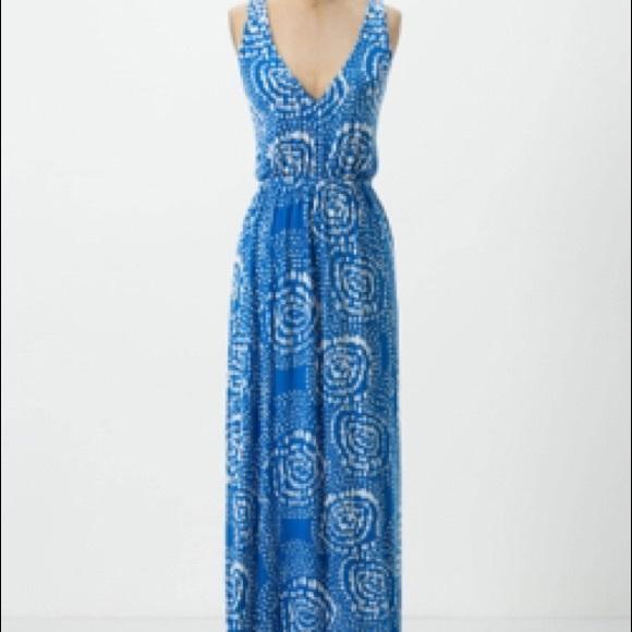 Sky trails maxi dress
