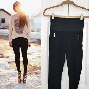 Zara Pants - Amazing Zara Leggings with Gold Zippered Pockets