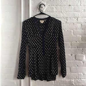 Vanessa Virginia black blouse - Anthropologie