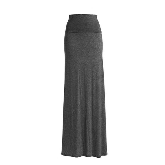 80 chalmon s dresses skirts charcoal gray fold