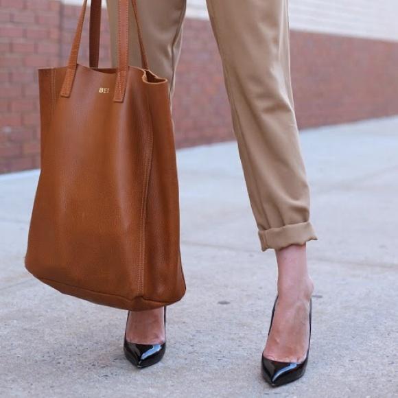 12% off Cuyana Handbags - Cuyana Tan Cognac Brown Whiskey Leather ...