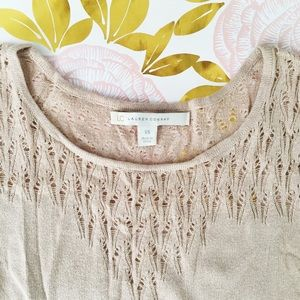 LC Lauren Conrad Sweaters - 🚫LC Lauren Conrad Blush Pointelle Sweater