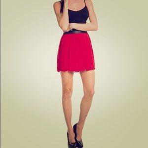 "NWT ""Hilary"" red pleated skirt by Walter Baker"