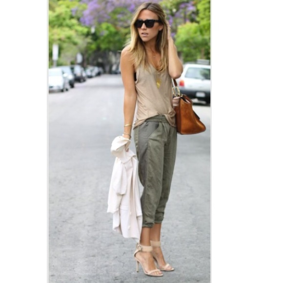 Womens Olive Green Pants