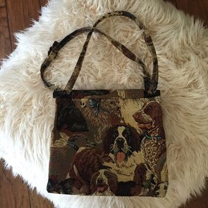 Toby Weston Dog Tapestry Bag