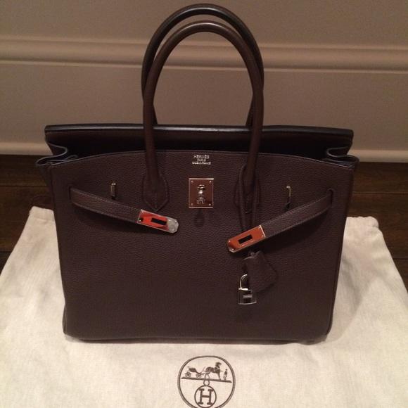 Hermes Black Togo Birkin Bag 35 Cm Size Ghw Cheap Birkin