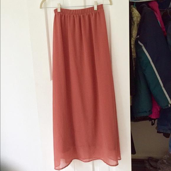 36ff08e5d Forever 21 Dresses & Skirts - Forever 21 dusty rose maxi skirt
