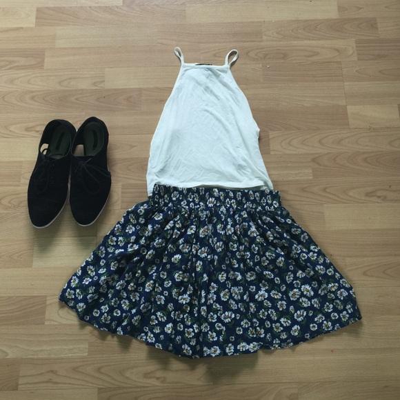 47 forever 21 dresses skirts navy blue floral